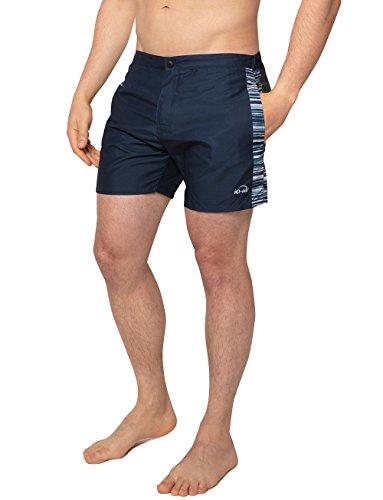 iQ-UV Herren Shorts, Kurze Hose mit Sonnenschutz, Reissverschluß, Netzfutter, Schutz, Navy, M (50)