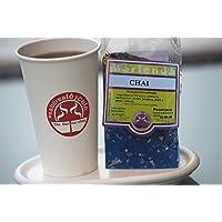 Bustina di tè nero Chai in Hebras saboreateycafe 100 grammi. - Tè in filo nero, pepe, cannella, zenzero, cardamomo, chiodi di garofano e aromi naturali - Energia - ideale per prendere con il