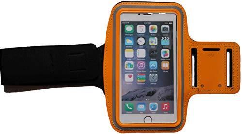 Sport Armband Schweißfest Schutztasche für Apple iPod Touch 4G Fitness Handyhülle Armtasche mit Kopfhöreranschluss, Laufen, Blank S Orange Ipod 4g Armband