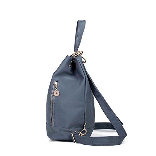 ZY&F Rucksack wasserdicht Nylon Ms. Taschen Tuch Reisetasche Ms. Kosmetikum Umhängetasche schwarz lila grau Light Grey