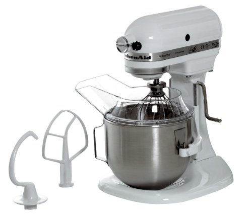 KitchenAid 5KPM5EWH - Batidora amasadora, 315 W, 264 x 338 x 411 mm, color blanco