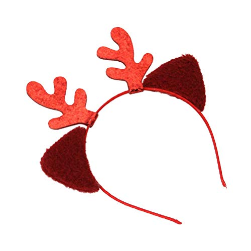 WMING Home Rentier-Geweih-Stirnbänder mit Katzenohr-Party-Haarschmuck für Ostern-Kinderparty-Kleinkind-Feiertags-Kostüm-Zubehör-Geschenke Ostern-Halloween (Kleinkind Rentier Kostüm)
