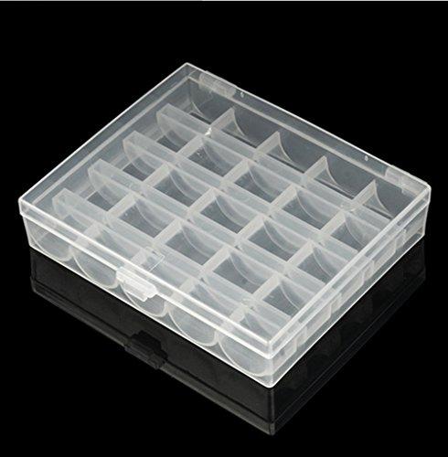 edealing (TM) 2 Stück Haushalt Leer Nähmaschine Spulen mit Unterfaden Storage Box Profi