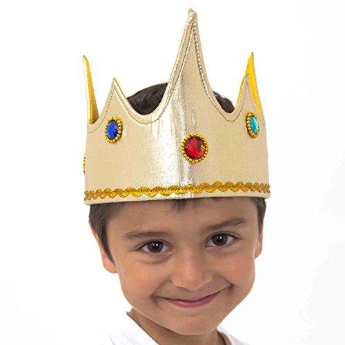 Königskrone für Kinder - Karneval Kostüm König (3-8 Jahre alt) - Krone König von Slimy (00 Kostüme)
