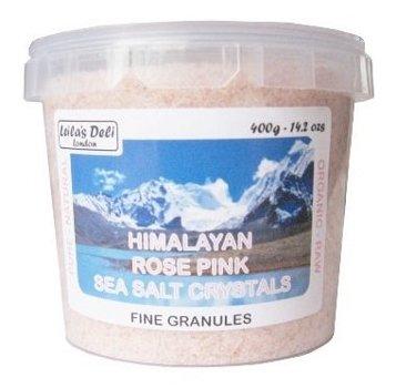 Sel rose de l'Himalaya (sel fin 1 x 400g) 100% biologique, riche en nutriments, formidable goût, qualité exceptionnelle!