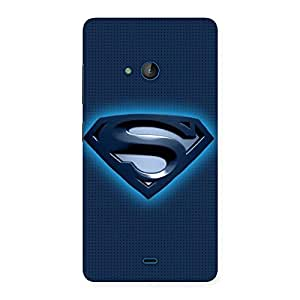 Delighted uper Blue Back Case Cover for Lumia 540