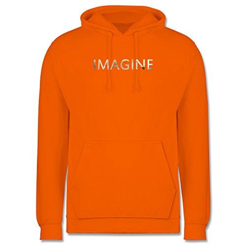 Vintage - Imagine Schriftzug Aquarell - Männer Premium Kapuzenpullover / Hoodie Orange