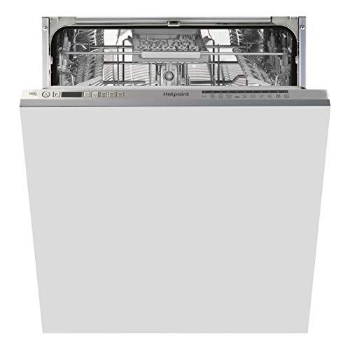41N5L3mELRL. SS500  - HOTPOINT Ultima HIO3C22WSC 14 Place Fully Integrated Dishwasher with Quick Wash - Silver