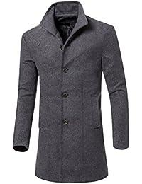 DianShao Homme Blouson Manches Longues Veste Manteau Trench Coat Parka 4551d7620d1