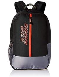 e2a29e9c71a3 Flying Machine 6 Ltrs Black Blue School Backpack (FMSB0062 Black Blue OP)