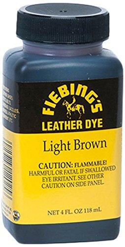 Fiebing's Lederfarbstoff, Uni, 50-2046-LB, hellbraun, 4 Ounces (Leathercraft Leder)