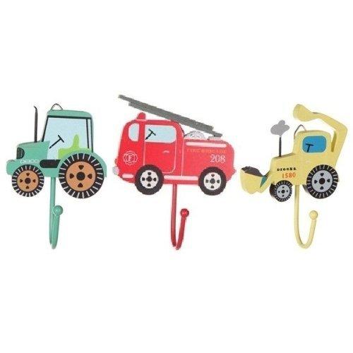 Tinkie Toys - Set di ganci per cappotti da bambini con 3 veicoli