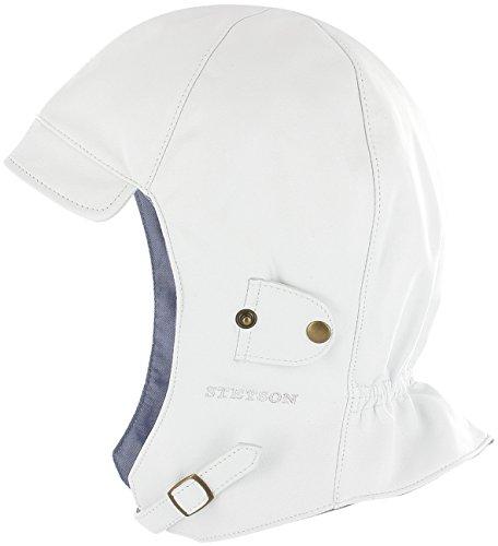 Chapeau Aviateur Convertible Stetson casquette en cuir cabriolet Blanc