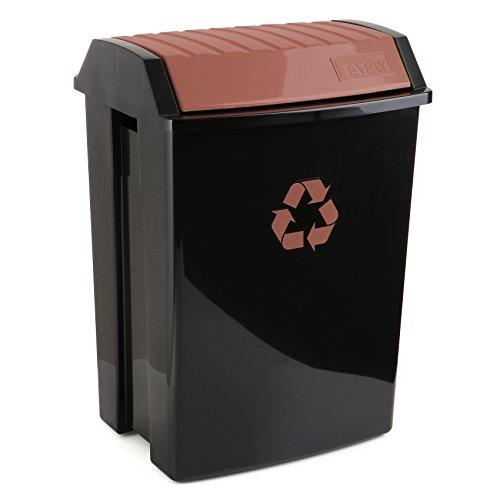 TATAY Contenedor Reciclaje para materia orgánica, Capacidad para 50 litros, Plástico polipropileno...