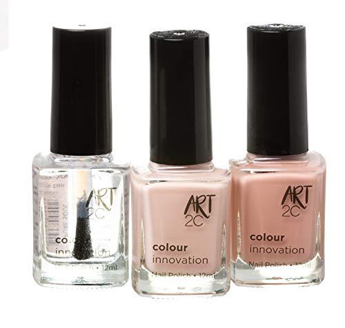 Art 2C Colour Innovation - klassischer Nagellack - 3er-Pack, 3 x 12 ml - 3 Hautfarben
