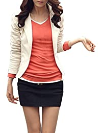 EFINNY Women Open Front Blazer Jacket Casual Long Sleeve Work Office Cardigan(Shipped From USA!!!)