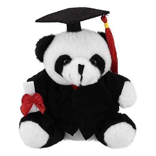 Graduation Stuffed Animal 2019 Hund / Panda / Ente / AFFE Plüschtierspielzeug mit Mütze und Kleid Realistisches Stofftierspielzeug für Kinder - 5 '' -