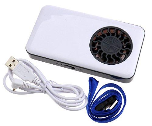 Preisvergleich Produktbild USB-Mini-Ventilator Handventilator Klimaanlage Kühler Lüfter mit Batterie Weiß