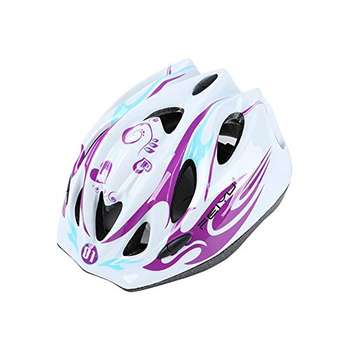 WZFC Fahrradhelm 2018 Specialized Kinder Fahrrad Helm, 47-52 cm (3~12 Jahre Alt),Purple