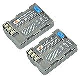 DSTE 2-Pacco Ricambio Batteria per Nikon EN-EL3E D30 D50 D70 D70S D80 D90 D100 D200 D300 D300S DSLR D700