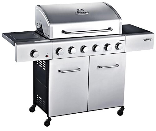 Outback Meteor Hooded Stainless Steel 6 Burner Gas BBQ