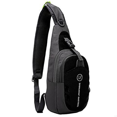 G7Explorer Lightweigh Breathable Multi Purpose Waterproof Chest Bag Sling Shoulder Backpack Black