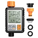 Automatic Watering Timer, Waterproof Hose Timer with Timed Irrigation, Rain Delay, Manual Control