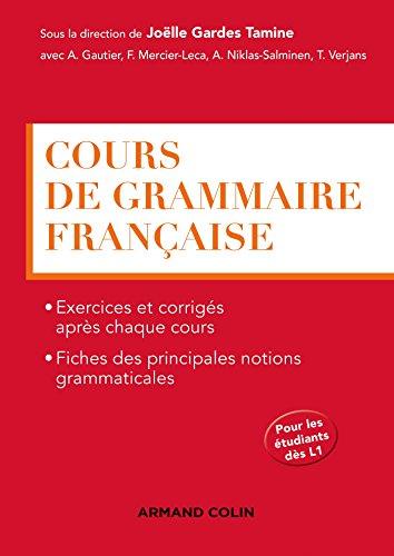 Cours de grammaire franaise (Hors collection)