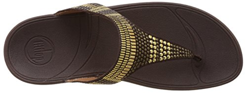 FitFlop - Aztek Chada, Scarpe spuntate Donna Brown (Chocolate)