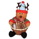 Zolimx Christmas candy basket Frohe Weihnachten Süßigkeiten Aufbewahrungskorb Dekoration Santa Claus Aufbewahrungskorb (C)