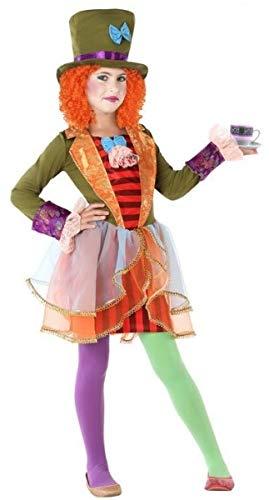 d Hatter Alice im Wunderland Weltbuch Tag Karneval Halloween Kostüm Outfit 3-12 Jahre ()