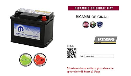 Batteria Auto Veicoli Start & Stop 12v 60Ah 500A