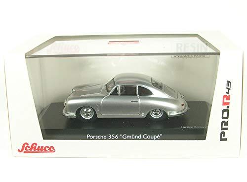 Schuco 450879800 Porsche 356 Gmünd - Maqueta de Coche (Escala 1:43), Color Plateado
