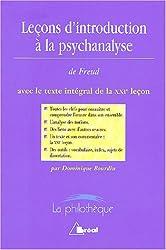 Leçons d'introduction à la psychanalyse de Freud avec le texte intégrale de la XXIe leçon