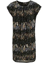 Chillytime Chiffon Kleid schwarz bunt Gr