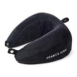 AVANCE AIRE Nackenhörnchen - Kompakt einrollbar - Reise Nackenkissen - Einfacher als aufblasbar