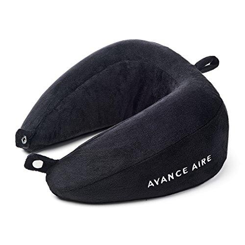 AVANCE AIRE Nackenhörnchen – Kompakt einrollbar – Reise Nackenkissen - Einfacher als aufblasbar