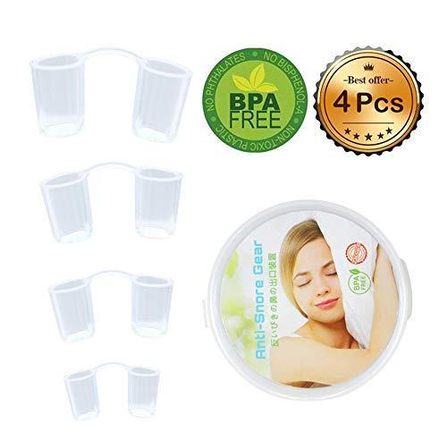 Schnarchstopper, Anti-Schnarch Nasenspreizer BPA-Frei Silikon Nasendilator Schnarchen Stopper Hilfsmittel gegen Schnarchen
