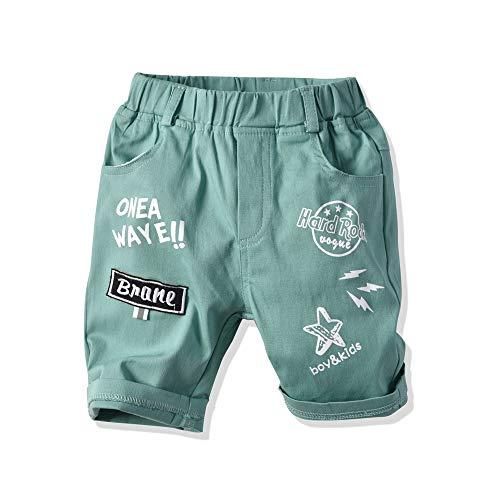EULLA Baby Jungen Kinder Pants Buchstabe Hose Babyhose, 01-grün, 104 (Herstellergröße: 110)