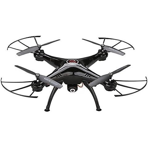 Syma X5HC Quadricottero Videocamera 2.4GHz 4CH 6 Axis Telecomando Drone 360¡ã/ 3D Rollover, Nero