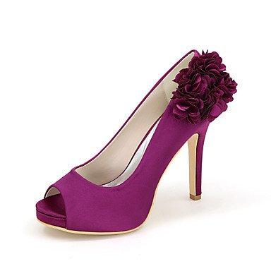 Best stiletto Raso per e aperta Zero Da 4U® Estate Zero Primavera scarpe Matrimonio da A Lustrini sposa Fibbia Scarpe Serata purple donna Punta Decolleté 4nr4WZqOB