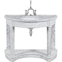 Mobile lavabo Lefroy Brooks Demi Lune in marmo Carrara
