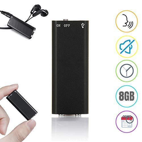 Inovics Spy Voice Recorder (8GB, Black) Crystal Clear Audio Recording Gadget Hidden Audio Recorder Device Mini spy Recorder Voice 60 Hours Recording