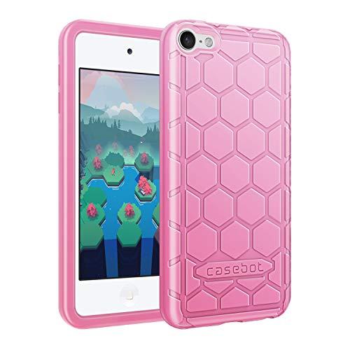 Fintie Hülle für iPod Touch 2019 / iPod Touch 6 / iPod Touch 5 - [Bienenstock Serie] Leichte rutschfeste Stoßfeste Silikon Schutzhülle Tasche Cover für iPod Touch 7. / 6. / 5. Generation, Pink