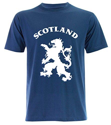 PALLAS Unisex's Lion Rampant Scotland T-Shirt Blue