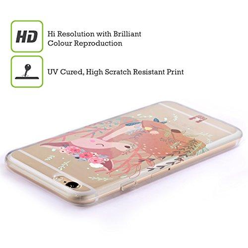 Head Case Designs Renard Animaux Des Bois Étui Coque en Gel molle pour Apple iPhone 5 / 5s / SE Cerf