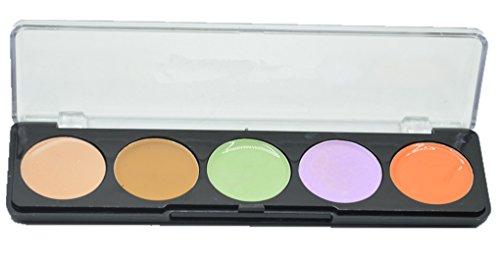 BrilliantDay 5 Couleurs Palette de Maquillage Correcteur Camouflage Crème Cosmétique Set