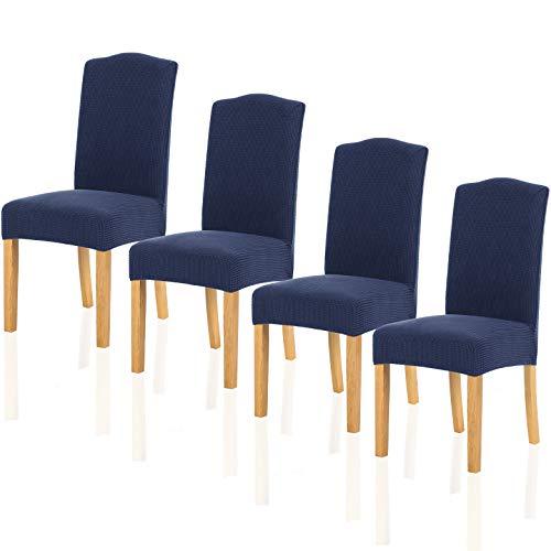 TIANSHU Fundas para sillas Pack de 4,Poliéster Elástica Fundas sillas Duradera Modern...