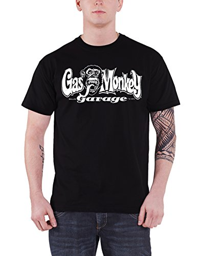 Gas Monkey Garage T Shirt GMG Dallas Texas Official Mens Black