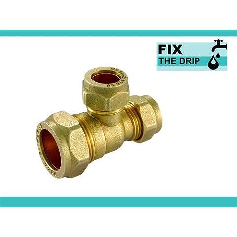 FtD-tee di riduzione, a compressione, in ottone, 42 x 42 x 35 mm